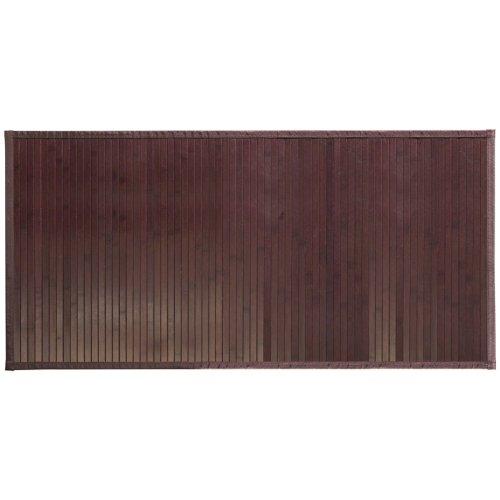InterDesign Formbu Fußmatte rutschfest, großer Läufer aus Bambus, mokkabraun Badezimmer-teppiche Interdesign