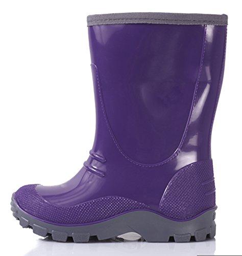 Lemigo Kinder Gummistiefel Cortina Violett