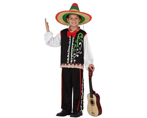 Atosa 23621 - Mexicaner Junge Kostüm, Größe 128, (Kostüm Mexicaine)