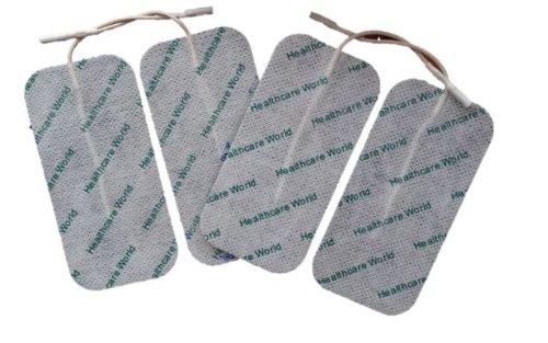 Große Elektroden für TENS EMS Reizstromgeräte 4 Stück 100mm x 50mm