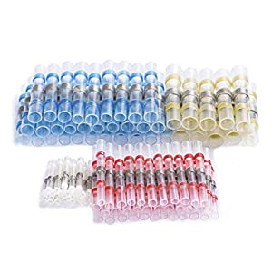 materiales de soldadura: DEDC 100 Pcs Conectores Termocontraíbles Terminales de Cables Impermeable Empalm...