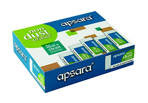 Apsara Non Dust Erasers - Pack of 20
