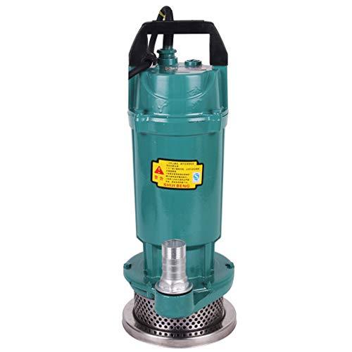 Xiao Jian- Haushalts Licht Tauchpumpe 220 V Tauchpumpe Pumpe Klarwasserpumpe Brunnen Kleine Sprinklerpumpe (Aluminium Shell) Tauchpumpe (Farbe : 550w)