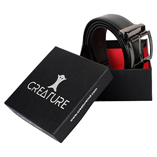 Creature Men's Reversible Pu-Leather Formal/Casual Belts(Color-Black/Brown||BL-06)