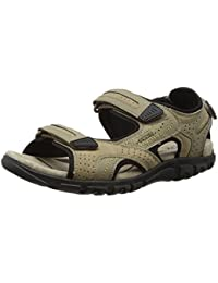 Geox Uomo Strada A U6224a0bc50, Sandales Bout Ouvert Homme