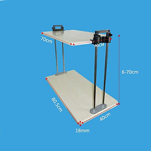 CWJ Haushalt Kleiner Tisch Stehender Schreibtisch | Elektrisch Höhenverstellbar Aufstehen Schreibtisch Heben Bewegen Einfache Kreative Bett Multifunktionstisch,Höhe 6-70cm