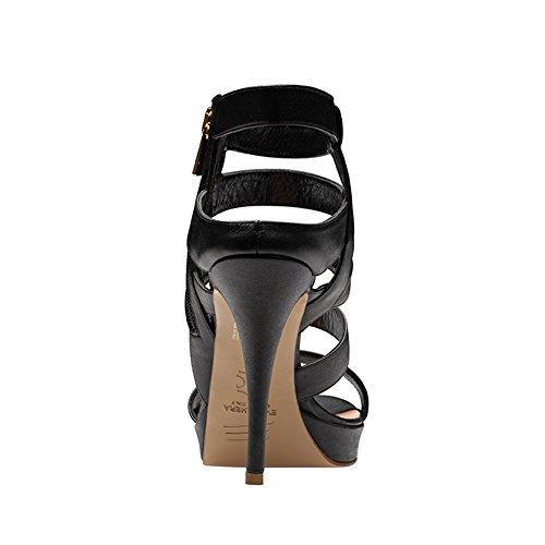 VALERIA sandales femme cuir lisse Noir
