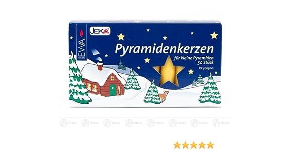 10,5 cm 18er Pack Höhe Pyramidenkerzen weiß Ø 1,7 cm NEU Kerze Wachskerze