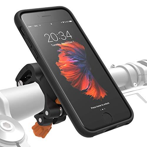 MORPHEUS LABS M4s Handyhalterung Fahrrad iPhone 8 / 7 Fahrradhalterung Halterung & iPhone 8 / 7 Hülle magnetisch fürs Rad, DropTest, mit Quick Lock, Bike-Kit passend für meisten Lenker schwarz (Flache Stabilität Ball)
