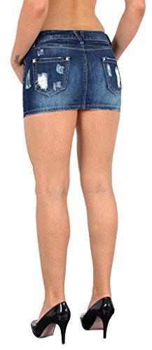 Jean Mini-Jupe pour Femmes Rock pour l'été Mini Jupe en Jean Femmes Mini Jupe en Jean très Chic R30 R31