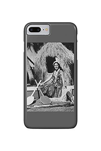 Hula Girl with Outrigger Canoe Hawaii Photograph (iPhone 7 Plus Cell Phone Case, Slim Barely There) - Hawaii Outrigger Canoe