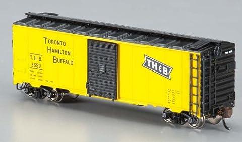 Bachmann Industries Inc. AAR 40' Steel Box Car Tornato, Hamilton and Buffalo - N Scale, Yellow and Black