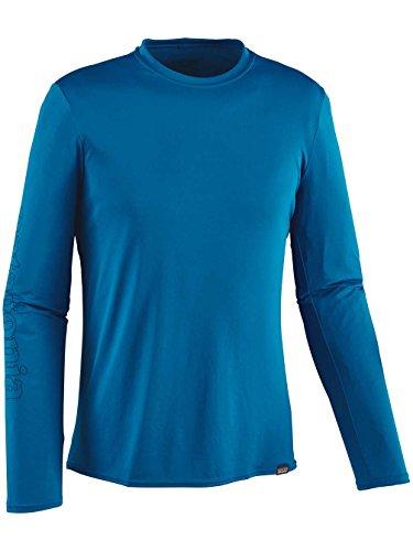Herren Langarmshirt Patagonia Cap Daily Graphic T-Shirt outline text logo: bandan