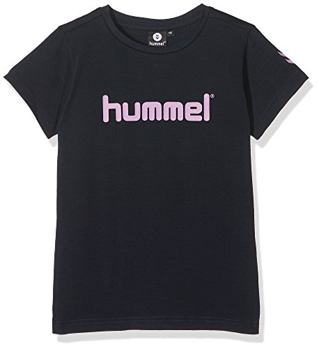 Hummel Mädchen Veni Short Sleeve Tee AW17 T-Shirt, Total Eclipse, 128