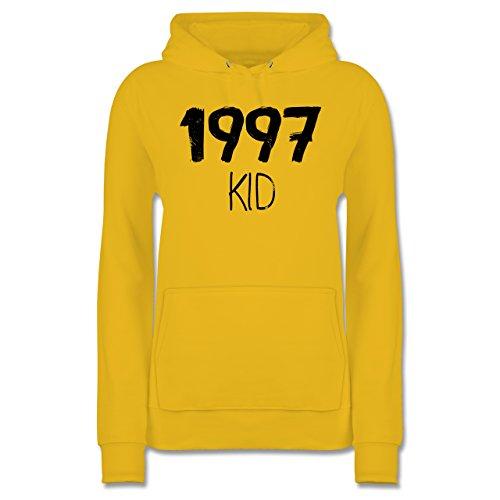 Geburtstag - 1997 KID - XXL - Gelb - JH001F - Damen Hoodie