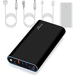 BatPower ProE 2 EX7B Power Bank Batterie Externe Batterie Portable pour Apple Macbook Pro Macbook Air Mac Retina 2006-2015 Laptop, QC 3.0 Ports USB Charge Rapide pour Tablette et Smartphone -98Wh