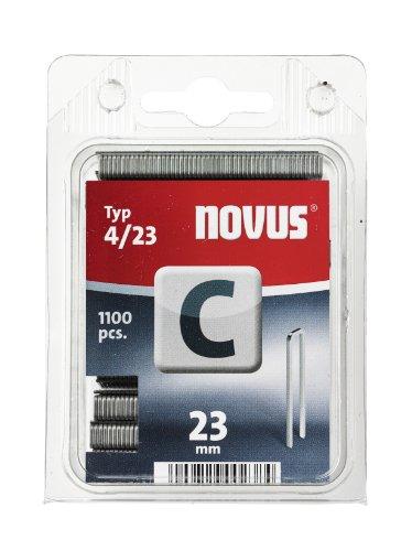 Novus 042-0392 Blister de 1100 Agrafes dos étroit 4/23 mm Rouge
