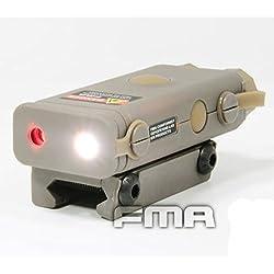 AIRSOFT UN/PEQ-10 LUMIÈRE LASER ROUGE torche à LED lampe torche RIS 20mm RAIL TAN DE