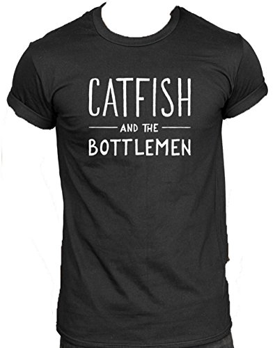 New Unisex Catfish And The Bottlemen T-Shirt Top, Rock Music The Balcony Logo Kathleen Band (BLACK/Schwarz, SM/klein: 8) (Band T-shirt Music Frauen)