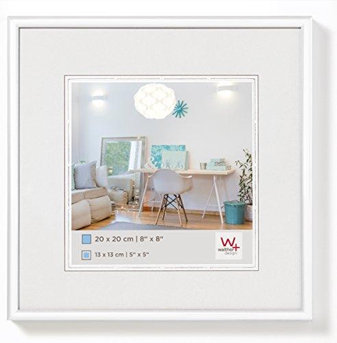 walther design KV220W New Lifestyle Kunststoffrahmen, 20 x 20 cm, weiß