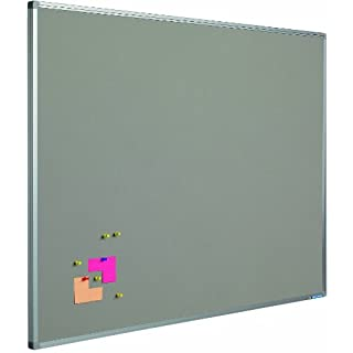 Smit Visual Pinntafel Softline aluProf 8mm, Textil grau, 60x90cm