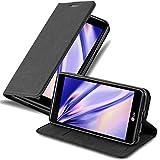 Cadorabo Coque pour LG X Power en Noir Nuit - Housse Protection avec Fermoire Magnétique, Stand Horizontal et Fente Carte - Portefeuille Etui Poche Folio Case Cover