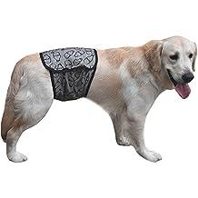 LianLe-Pet menstruales bragas de perras en la ropa interior fisiológica del pañal reutilizable Pant,100% nuevo y de alta calidad. Diseño agradable. Material: algodón,Comodo de llevar, Pañal para perro,Mascota,M