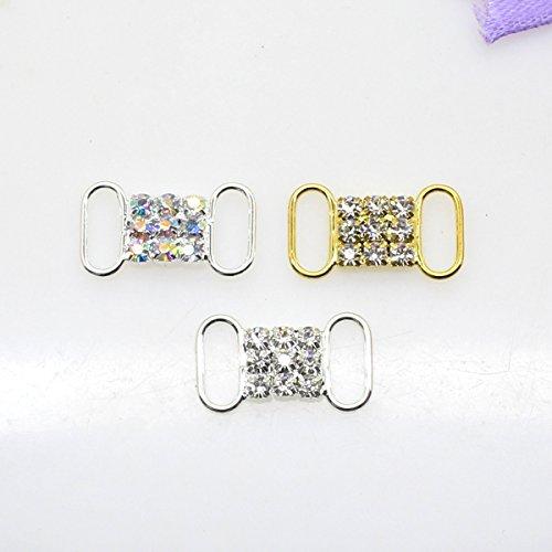 50pcs 20mm x 10mm strass fibbia scorrevole per Wedding Invitation Lettera - Diamante Del Nastro Scorrevole