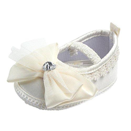 Chaussures souples, Oyedens Chaussures à Fleurs et Perle Sandales Bebe Fille Ete Chaussures premiers pas - Le design antidérapant Jaune Clair B