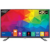 Kevin 124.5 cm (49 inches) 4K Ultra HD Smart LED TV KN49UHD (Black) (2018 Model)