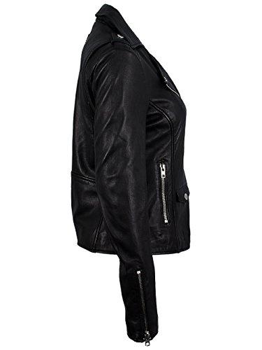 TIGHA Damen Lederjacke Vintage Black ALBA Neue Kollektion XL - 4