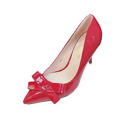 Moda Donna Sandali Sexy donna estate tacchi tacchi in pelle di brevetto Wedding / Casual Stiletto Heel Bowknot nero / rosa / Grigio / Fucsia Altri gray