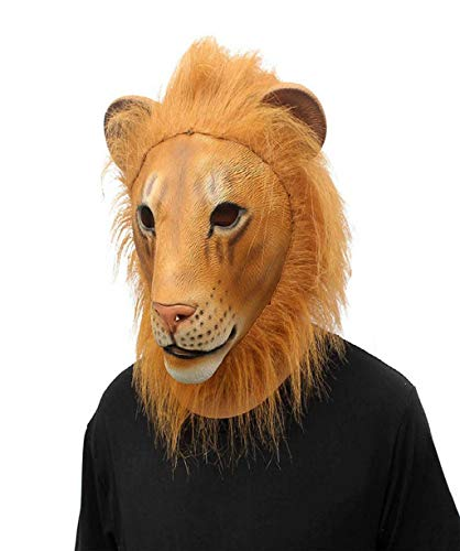 Löwen Maske Schmelzen Gesicht Latex Kostüm Sammlerstück Prop Tier Maske Spielzeug Kostüm Halloween Prop Super Funny Festival Geschenke für Cosplay ()