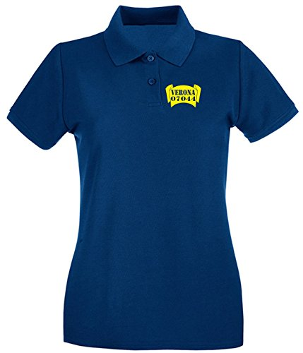T-Shirtshock - Polo pour femme TSTEM0130 verona zipcode banner Bleu Navy
