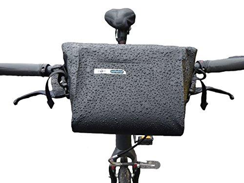 BTR Wasserfeste Allwetter Lenkertasche für jedes Fahrrad mit abnehmbaren Schultergurt und 6 GRATIS Reparaturflicken