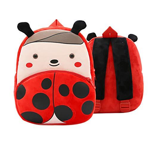 JUNGEN zaino bambina coccinella zainetti per bambini viaggio Casuale backpack per scuola elementare scolastici