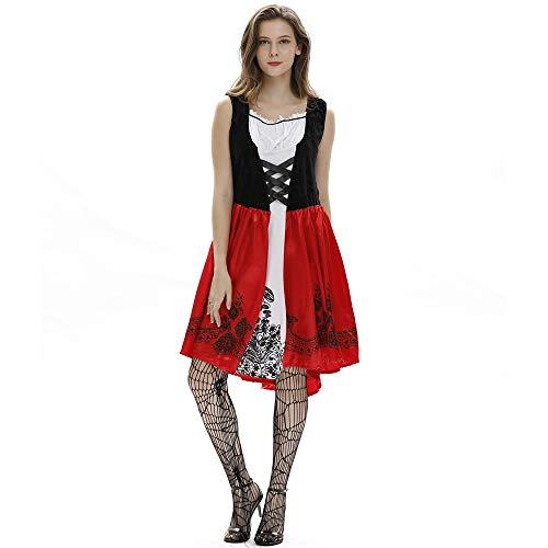 KLJJQAQ Creative Nightclub Queen Kostüm Rotkäppchen Kostüm - Mode Erwachsene Halloween Weihnachten Cosplay Kostüm, XXX-Large (Für Erwachsene Xxx Kostüm)