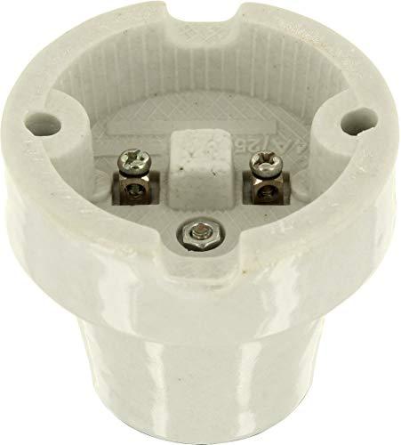 Aufbau E27 Porzellanfassung Keramik Lampe max. 1000W – z.B. für Terrarien - 2