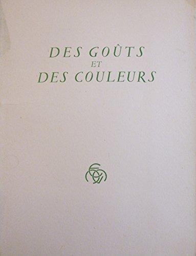 Sacha Guitry. Des Goûts et des couleurs. Aquarelles de Dignimont par Sacha Guitry