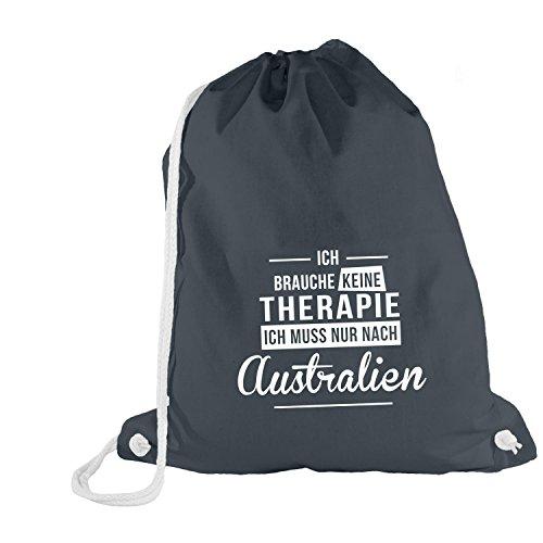 Turnbeutel - Ich Brauche Keine Therapie Australien - Therapy Urlaub Australia, Dunkelgrau