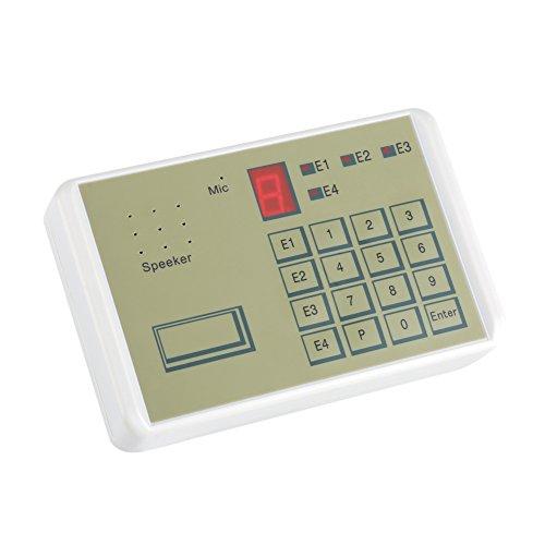 Bewinner Telefon Voice Dialer, Kabelgebundenes Telefon Voice Auto-Dialer Einbruchschutz Hausalarmsystem für Sicherheit im Home Office, Telefon Dialer Alarm Dialer Automatische Einwahlhilfe -