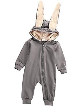 Overdose Neugeborenes Baby Mädchen Jungen Kaninchen 3D Ohr warmer Spielanzug Overall Ausstattungs Kleidung Jumpsuit...