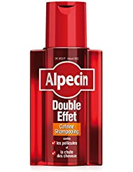 Alpecin Shampooing Caféine Double Effet, 200 ml - Shampooing anti-chute et antipelliculaire