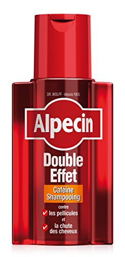 Alpecin Shampooing Caféine Double Effet, 200 ml - Shampooing anti-chute et antipelliculaire