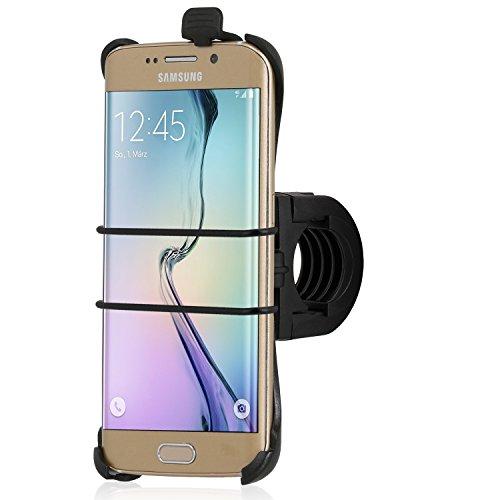 Wicked Chili Fahrrad / Roller / Lenker-Halterung mit Sicherungsband für Samsung Galaxy S6 Edge SM-G925F (passgenau, QuickFix, Made in Germany)