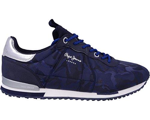 Pepe Jeans London Tinker Racer Nylon, Zapatillas para Hombre, Azul (Marine), 42 EU