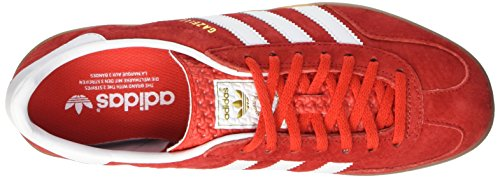 adidas Herren Gazelle Indoor Sneakers, Schwarz Multicolore (Red/Cwhite/Metold)