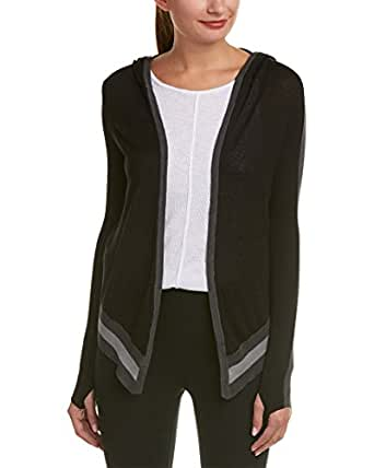 Blanc Noir Womens Hooded Wrap Cardigan
