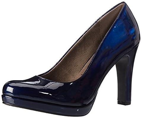 Tamaris 22426, Escarpins Femme, Bleu (Night Blue Pat), 42 EU