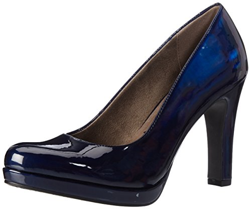 Blaue Schuhe (Tamaris Damen 22426 Pumps, Blau (Night Blue Pat), 38 EU)